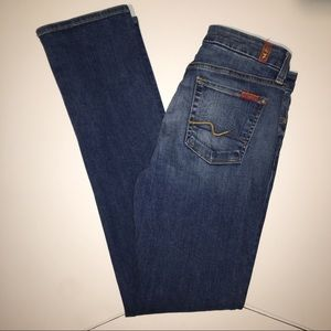 7 For All Mankind Blue Jeans Size 28